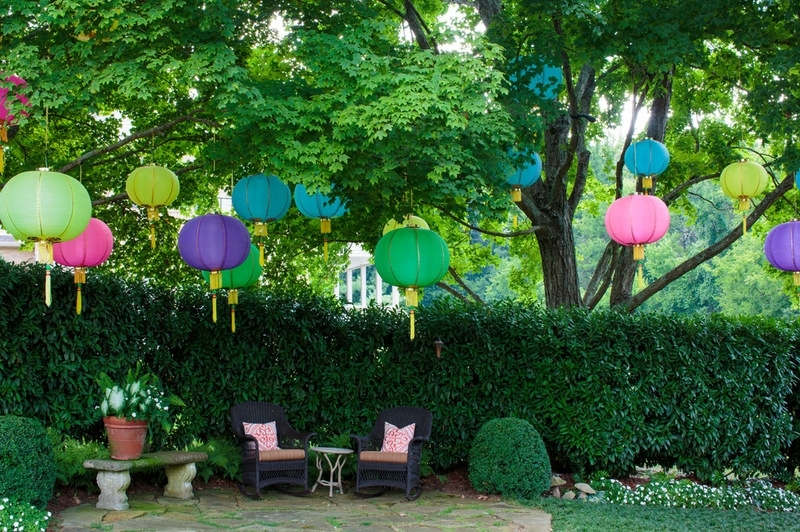 Multi-Colored Paper Lanterns Set The Stage For An Outdoor Spring with regard to Outdoor Hanging Chinese Lanterns (Image 5 of 10)