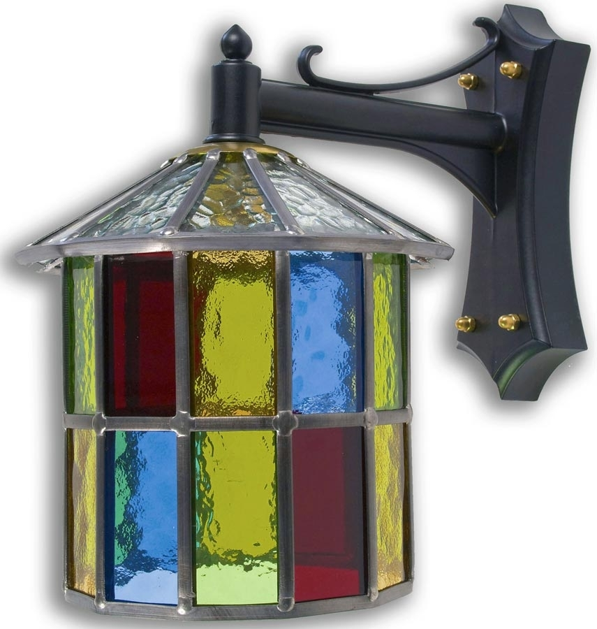 10 Photos Stained Glass Outdoor Wall Lights