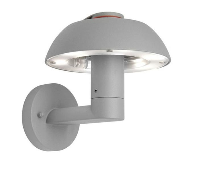 Mx78021Sil Benson Led Exterior Wall Bracket Lights Australia intended for Adelaide Outdoor Wall Lighting (Image 6 of 10)