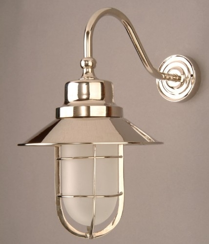 N448W Nickel Solid Brass Outdoor Wheelhouse Lamp From Lights 4 with Nickel Polished Outdoor Wall Lighting (Image 6 of 10)