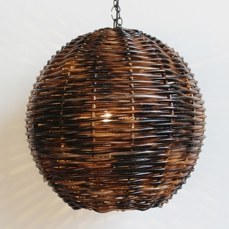 Natural Fiber & Wicker Lanterns ~ – In Outdoor Hanging Wicker Lights (Photo 7 of 10)