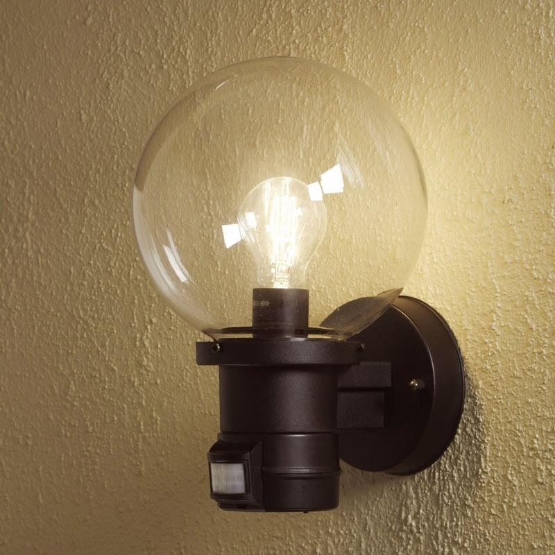 Nemi Globe Wall Lamp   Pir   Lighting Direct For Outside Wall Globe Lights (Photo 1 of 10)