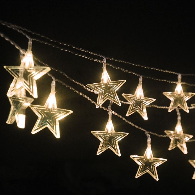 New 10 Meter Star String Lights Led Light Christmas Outdoor regarding Outdoor Hanging Star Lights (Image 8 of 10)