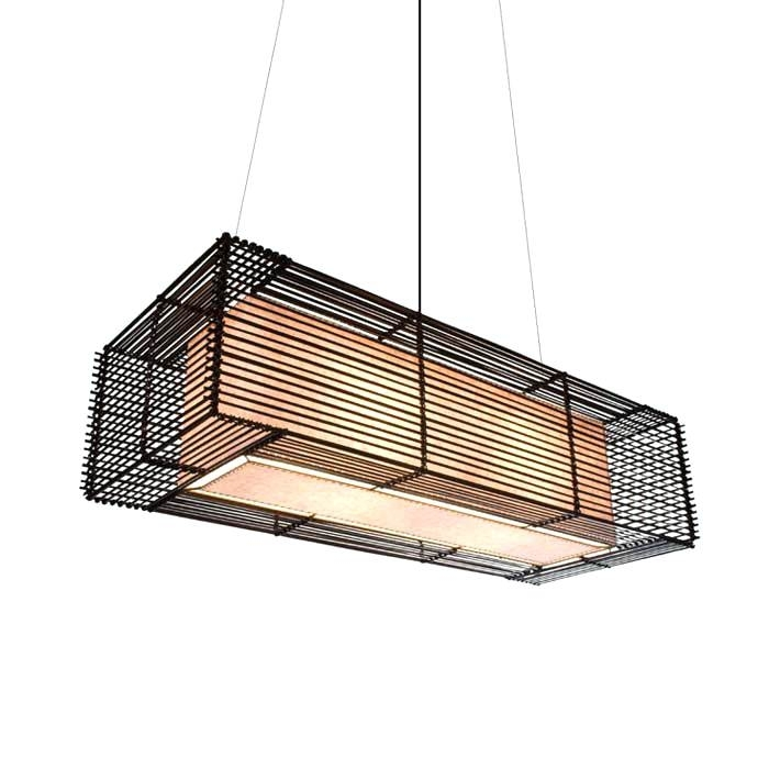 New Large Outdoor Pendant Light Rectangular Outdoor Hanging Lamp Within Extra Large Outdoor Hanging Lights (Photo 6 of 10)