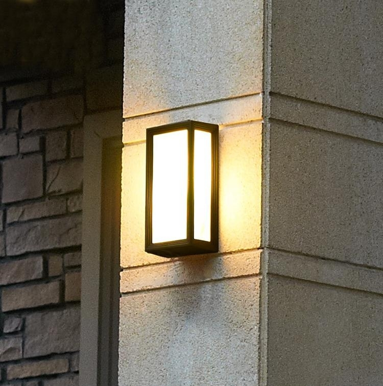New Outdoor Wall Lighting For Led Porch Lights Sconces Waterproof inside Vinyl Outdoor Wall Lighting (Image 7 of 10)