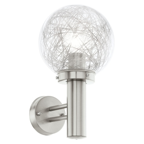 Nisia Outdoor Globe Wall Light 93366 | The Lighting Superstore Inside Outside Wall Globe Lights (View 7 of 10)