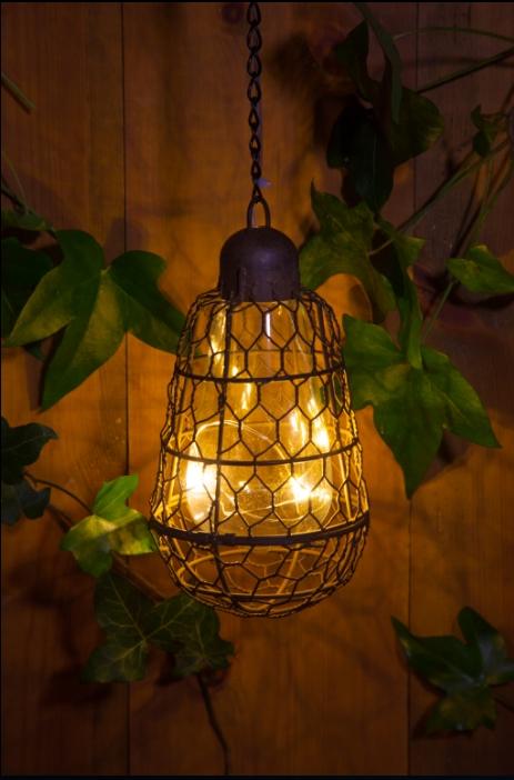 Noma Garden Art | Rustic Hanging Lantern | Noma.co (View 5 of 10)