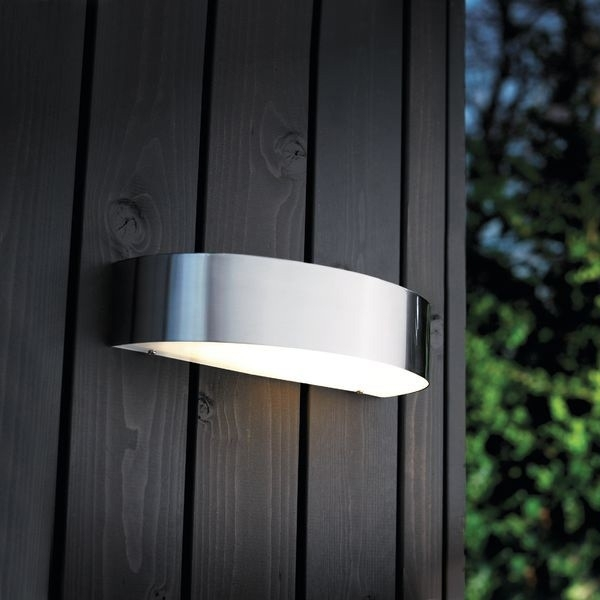 Nordlux Arc 10W Outdoor Wall Light - Stainless Steel - Outdoor Wall within Stainless Steel Outdoor Wall Lights (Image 7 of 10)