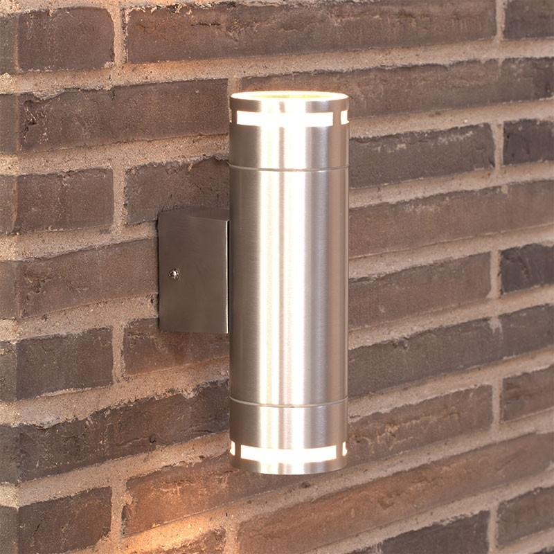 Nordlux Can Maxi Twin Outdoor Wall Light   Silver   Eames Lighting With Silver Outdoor Wall Lights (Photo 5 of 10)