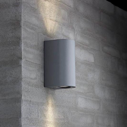 Nordlux Canto Maxi Outdoor Wall Light   Grey Pertaining To Grey Outdoor Wall Lights (Photo 1 of 10)