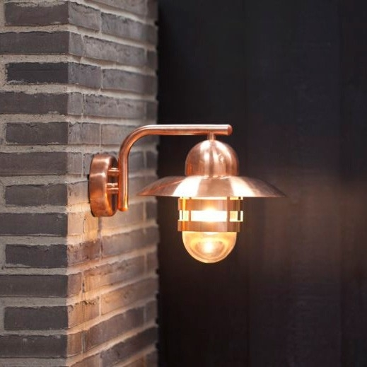 Nordlux Nibe E27 Outdoor Wall Light - Copper | Lovely House inside Copper Outdoor Wall Lighting (Image 6 of 10)