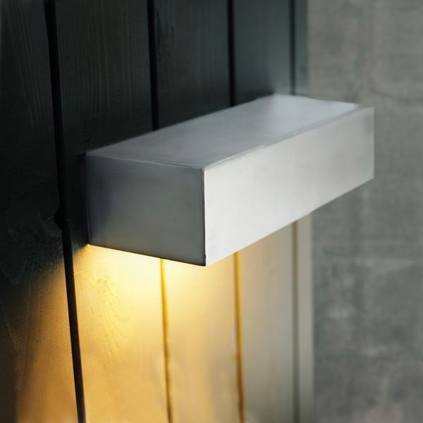 Nordlux Square 10W Outdoor Wall Light - Stainless Steel pertaining to Square Outdoor Wall Lights (Image 7 of 10)
