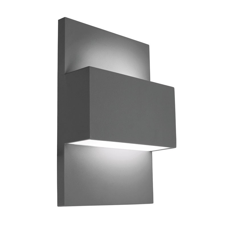 Norlys Geneve 18W Twin Outdoor Wall Light – Graphite – Lighting Direct Intended For Outdoor Wall Lights With Pir (View 2 of 10)