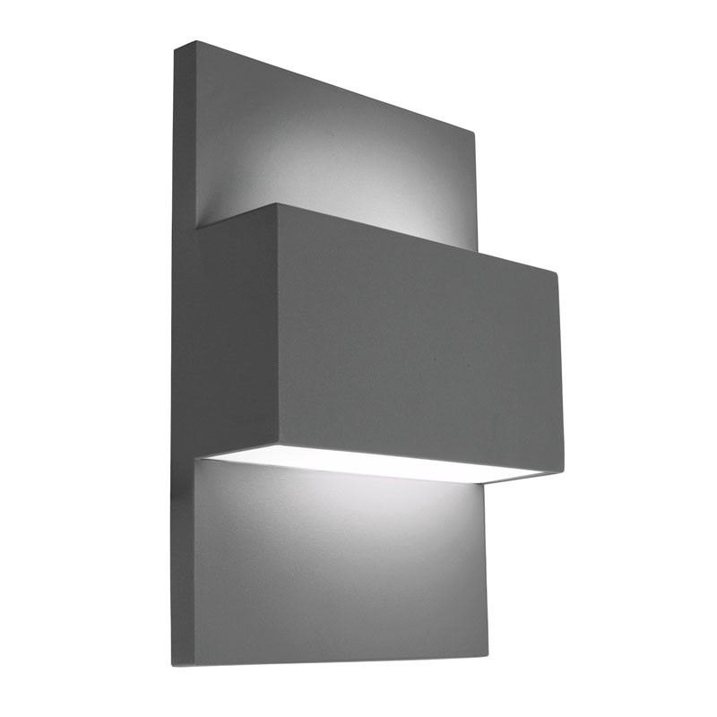 Norlys Geneve 40W Twin Outdoor Wall Light   Graphite   Lighting Direct With Grey Outdoor Wall Lights (Photo 3 of 10)