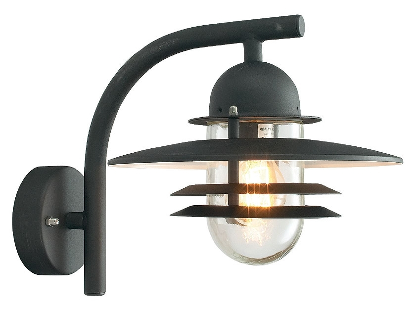 Norlys Oslo Art Deco Style Black Garden Outdoor Wall Light Os2 Black C with Art Deco Outdoor Wall Lights (Image 6 of 10)