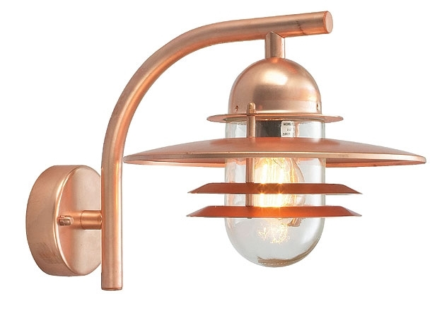 Norlys Oslo Art Deco Style Copper Garden Outdoor Wall Light Os2 Copper C in Copper Outdoor Wall Lighting (Image 8 of 10)
