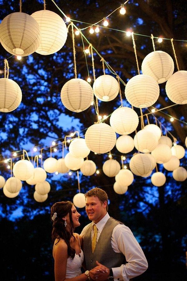 Okoboji Weddingrazvan Photography | Hanging Lanterns, Wedding intended for Outdoor Hanging Paper Lantern Lights (Image 6 of 10)