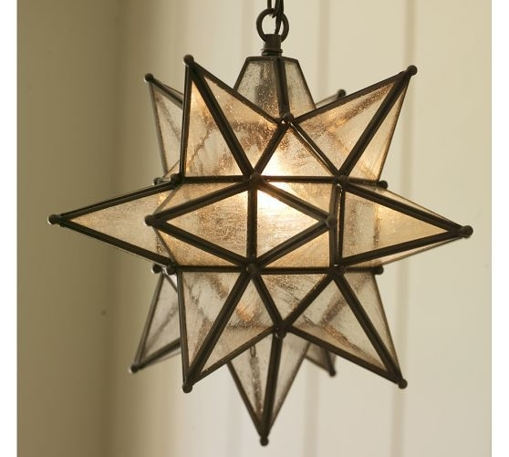 Olivia Star Pendant | Pottery Barn For $149. Again In The Outdoor throughout Outdoor Hanging Star Lights (Image 9 of 10)