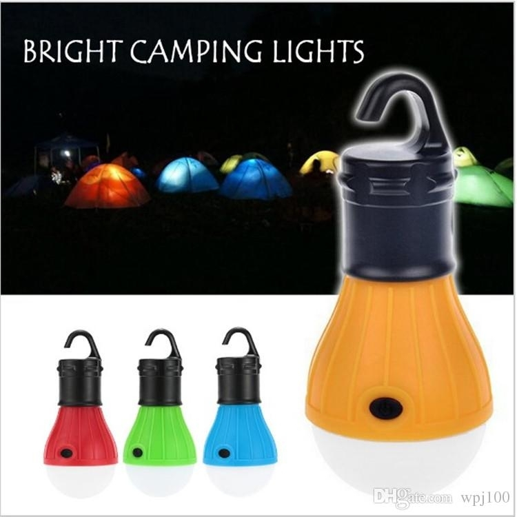 Outdoor Camping Lamp Tent Light Torch Flashlight Hanging Flat Led Regarding Outdoor Hanging Camping Lights (View 2 of 10)