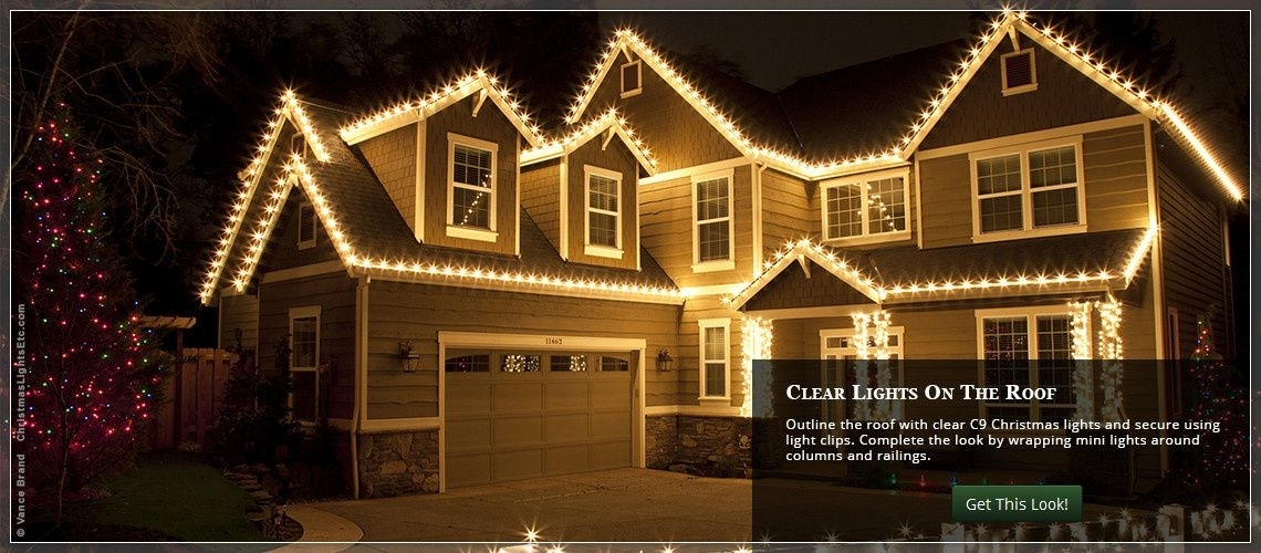 Outdoor Christmas Lights Ideas For The Roof | C9 Christmas Lights in Hanging Outdoor Christmas Lights in Roof (Image 7 of 10)