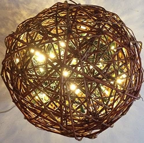 Outdoor Decoration Hanging Ball Made Of Grape Vine | Garden Envy inside Outdoor Hanging Grape Lights (Image 4 of 10)