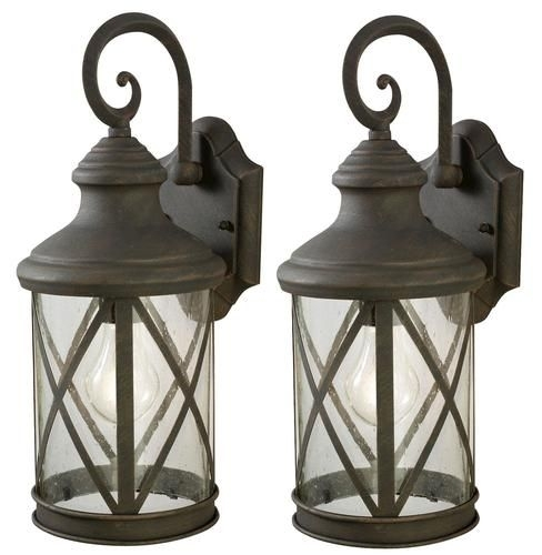 "Outdoor Garage Lights. Sonoma 1-Light 16"" Weathered Finish Twin Pack intended for Outdoor Wall Lighting at Menards (Image 5 of 10)"