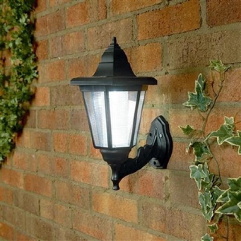 Outdoor Garden Wall Lights, Solar Led Outdoor Wall Lantern Lights in Garden Outdoor Wall Lights (Image 9 of 10)
