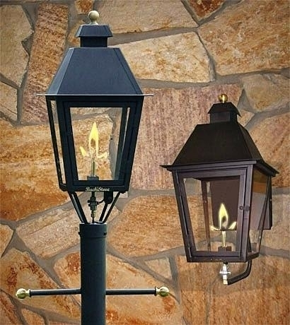 Outdoor Gas Lanterns Savitatruth Regarding Outdoor Gas Lamp Ideas throughout Outdoor Wall Gas Lights (Image 6 of 10)