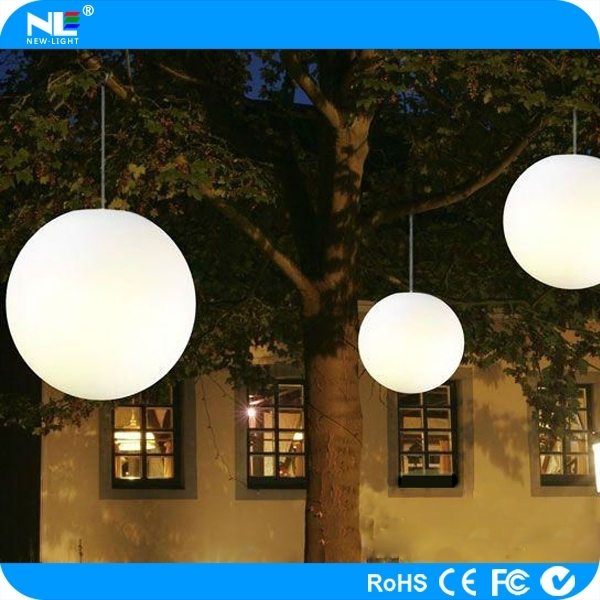 Outdoor Hanging Ball Lights Color Changing Outdoor Led Hanging Light Throughout Outdoor Waterproof Hanging Lights (View 2 of 10)