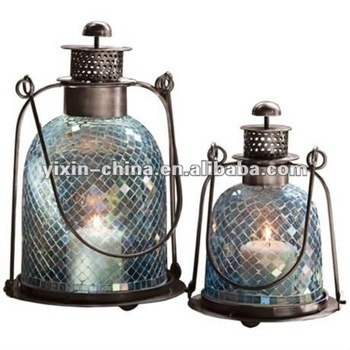 Outdoor Hanging Glass Mosaic Tealight Candle Lantern - Buy Vintage pertaining to Outdoor Hanging Glass Lanterns (Image 7 of 10)