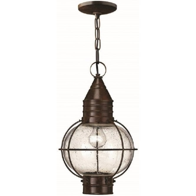 Outdoor Hanging Lantern In Bronze Finish, Porch Light On Chain, Ip44 pertaining to Outdoor Hanging Porch Lights (Image 8 of 10)