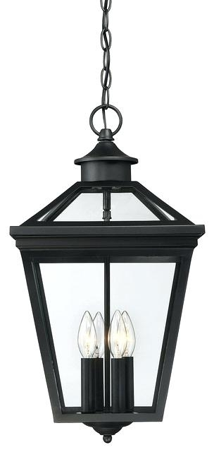 Outdoor Hanging Lanterns Battery Operated Savoy House Black Lantern with regard to Outdoor Hanging Lanterns With Battery Operated (Image 7 of 10)