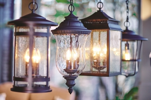 Popular Photo of Outdoor Hanging Lanterns