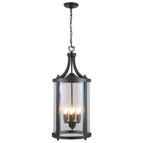 Outdoor Hanging Lights On Sale | Bellacor in Outdoor Hanging Light in Black (Image 9 of 10)