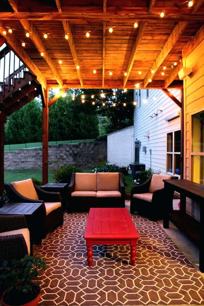 Outdoor Hanging Lights Patio Antique Outdoor Chandeliers In A Dining for Solar Hanging Outdoor Patio Lights (Image 5 of 10)