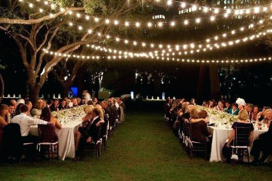 Featured Photo of Hanging Lights For Outdoor Wedding