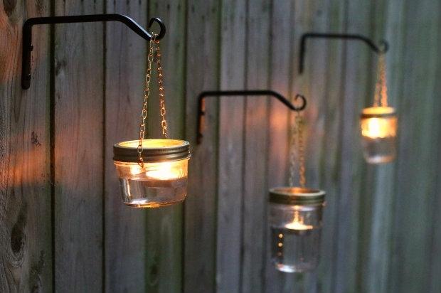 Outdoor Hanging Lights Using Mason Jars Tutorial | Mason Jar within Diy Outdoor Hanging Lights (Image 7 of 10)