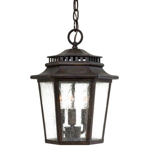 Outdoor Hanging Lights You'll Love | Wayfair in Outdoor Hanging Light Fixtures In Black (Image 10 of 10)