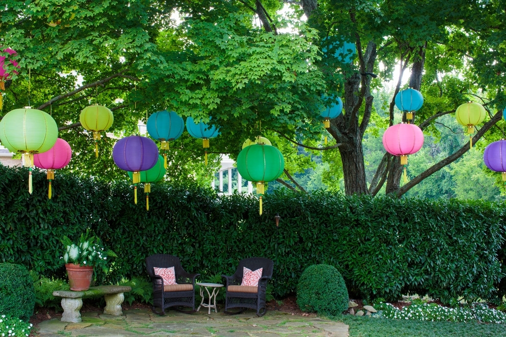 Outdoor Hanging Paper Lantern Lights - Outdoor Designs throughout Outdoor Hanging Nylon Lanterns (Image 7 of 10)