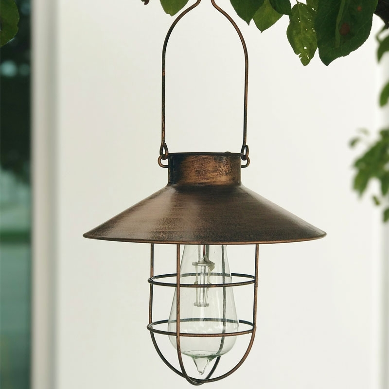Outdoor Hanging Solar Lights Hardware Home Improvement Hanging Solar Pertaining To Solar Powered Outdoor Hanging Lanterns (View 6 of 10)