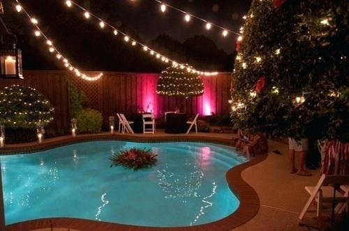 Outdoor Hanging String Lights High Voltage Over Pool Australia with regard to Outdoor Hanging Pool Lights (Image 8 of 10)