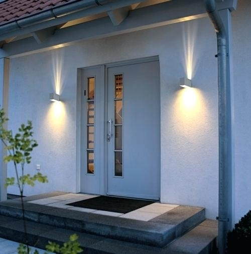Outdoor Led Wall Light House Sign With Door Number – Fooru for Outdoor Led Wall Lights For House Sign With Door Number (Image 3 of 10)