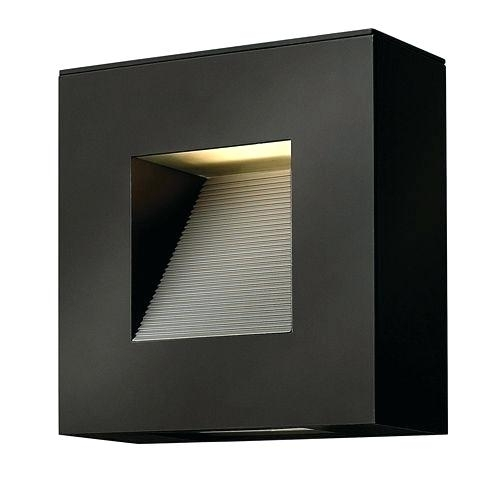Outdoor Led Wall Lights S Led Satin Black Outdoor Wall Light Outdoor within Outdoor Led Wall Lights With Sensor (Image 5 of 10)