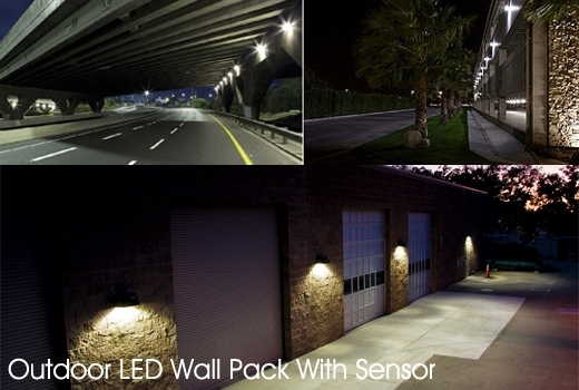 Outdoor Led Wallpack Light With Sensor Lighting Regarding Wall Pack For Outdoor Wall Pack Lighting (View 8 of 10)