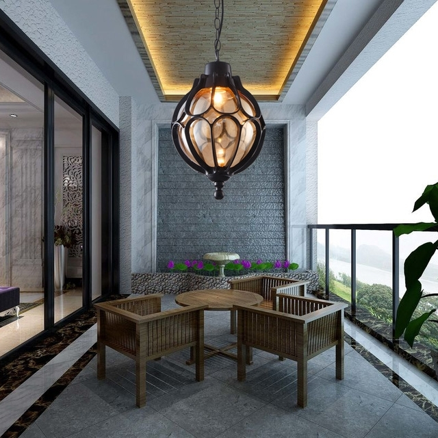 Outdoor Light Vintage Pendant Lamps Simple Balcony Corridor pertaining to Outdoor Hanging Grape Lights (Image 7 of 10)