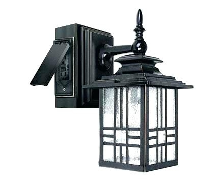 Outdoor Light With Outlet Fixture Plug Exterior Wall Box – Therav with regard to Outdoor Wall Lights With Receptacle (Image 6 of 10)