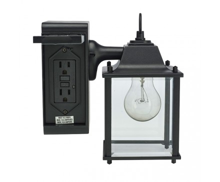 Outdoor Light With Plug Outlet | Rickevans Homes Within Outdoor Wall throughout Outdoor Wall Lights With Plug (Image 6 of 10)
