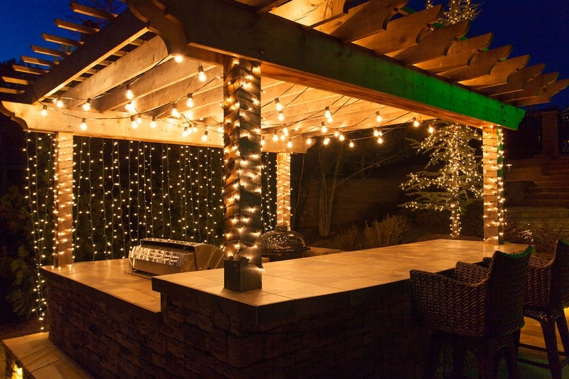 Outdoor Lighting: Amusing Outdoor Hanging Lights Patio How To Hang intended for Hanging Outdoor Lights on Stucco (Image 10 of 10)