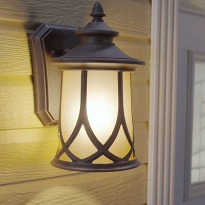 Outdoor Lighting & Exterior Light Fixtures At The Home Depot with Outdoor Wall Lighting at Home Depot (Image 7 of 10)