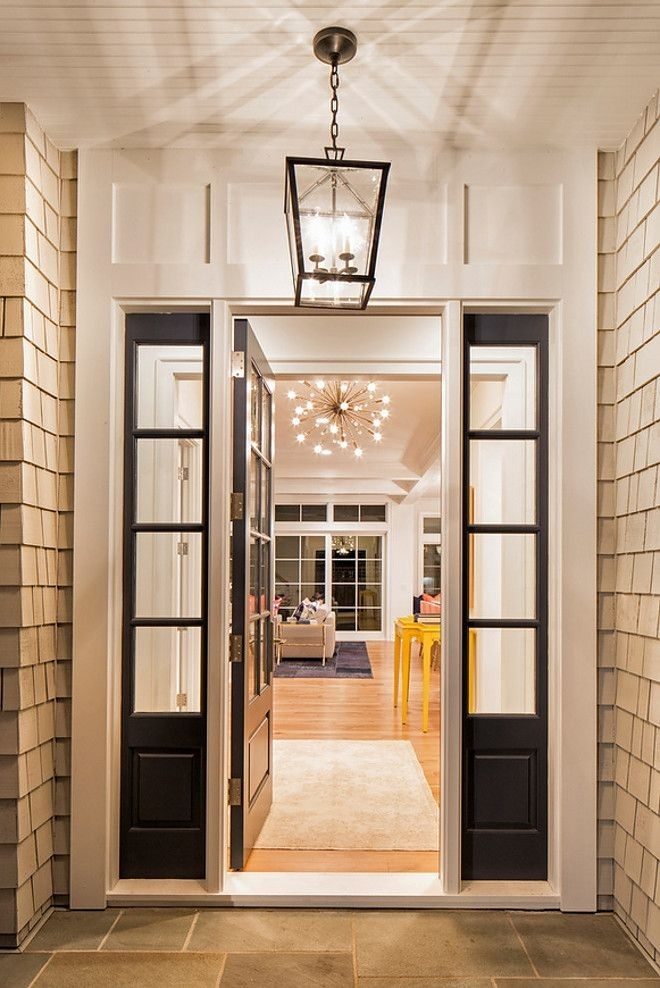 Outdoor Lighting: Extraordinary Modern Front Door Lights Modern throughout Outdoor Hanging Entry Lights (Image 8 of 10)